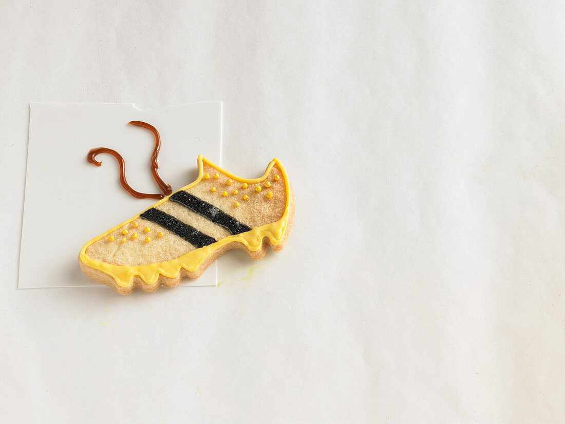 A football boot biscuit