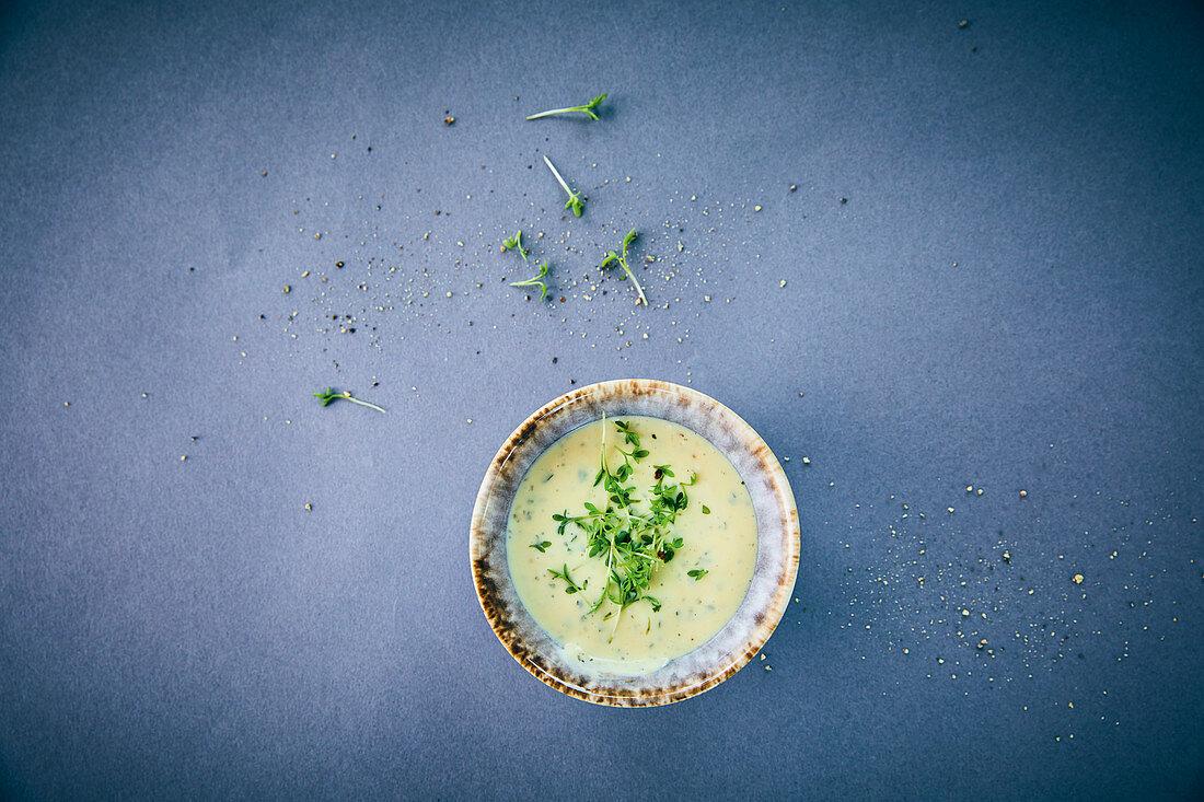 Vegan ranch dip made from soya quark