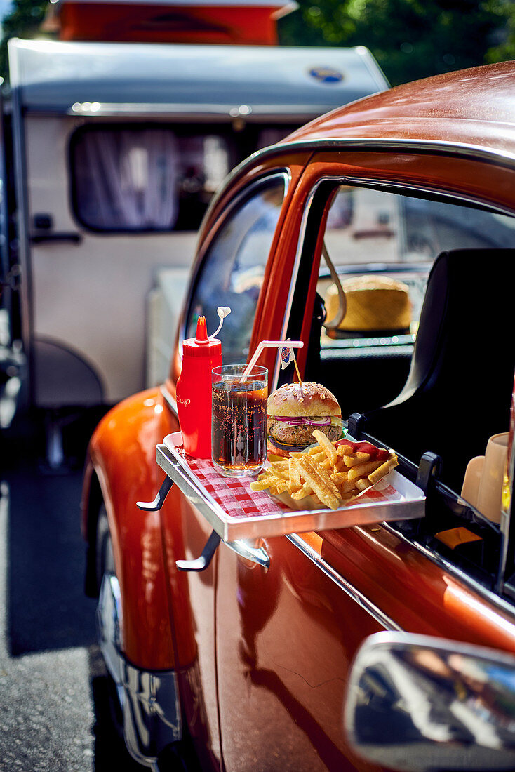 Fast food at a drive in