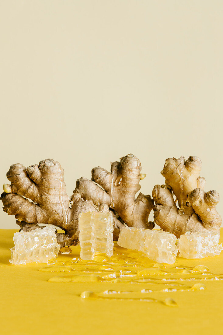 Ginger and honeycomb sculpture