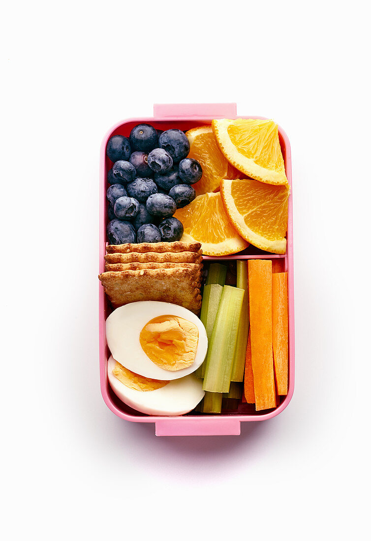 Lunch box with healthy nutritious meal