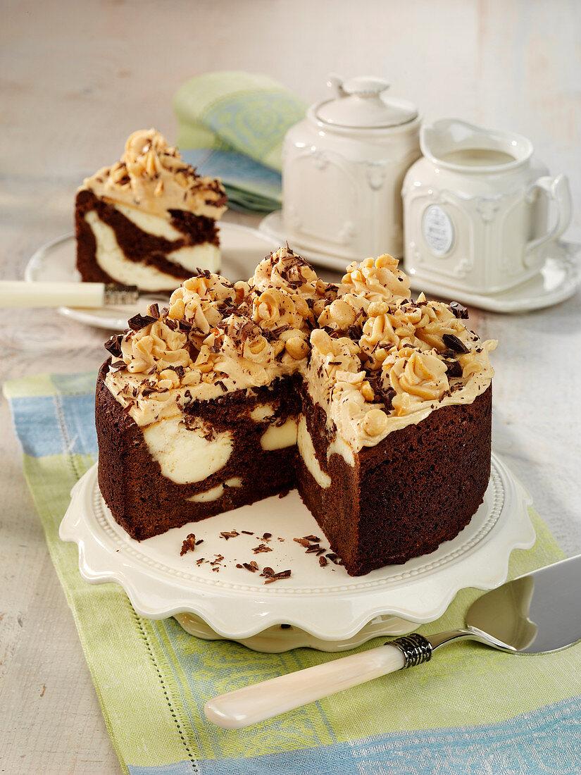 Schokoladiger Brownie-Käsekuchen