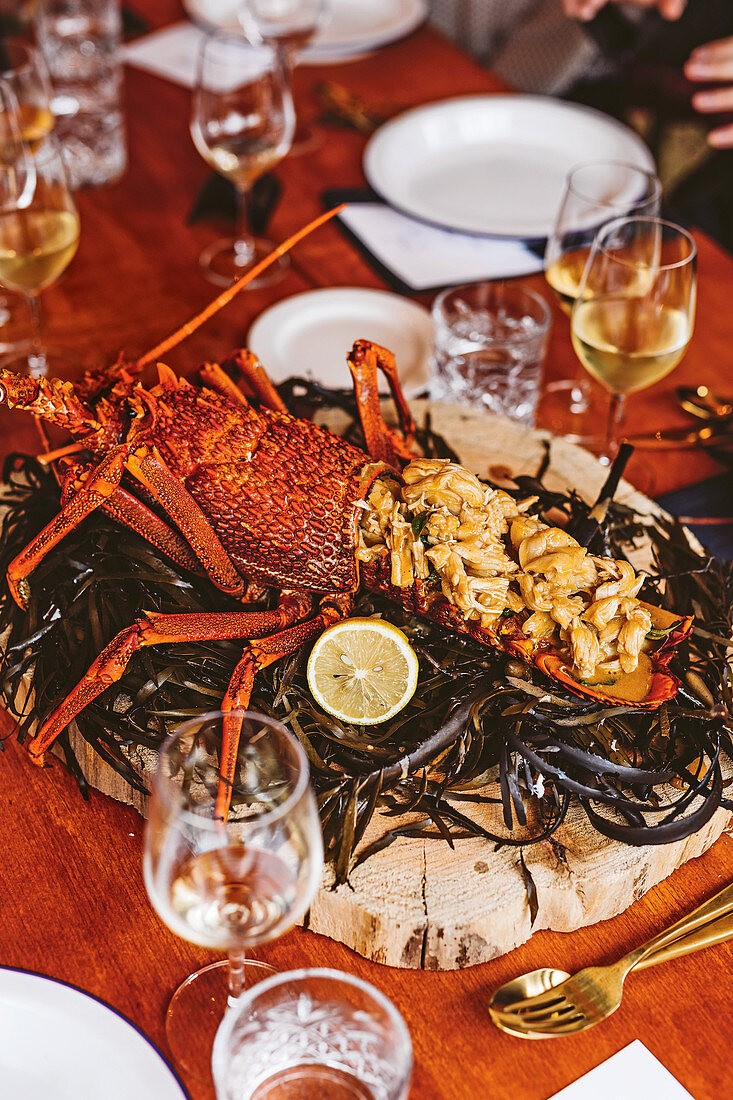 Crayfish in Beurre Blanc (Flinders Island, Australia)