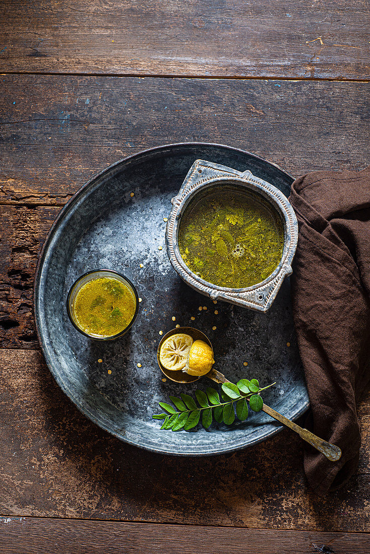 Lemon rasam from South India