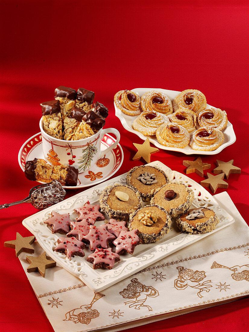 Various Christmas cookies from Nussteig