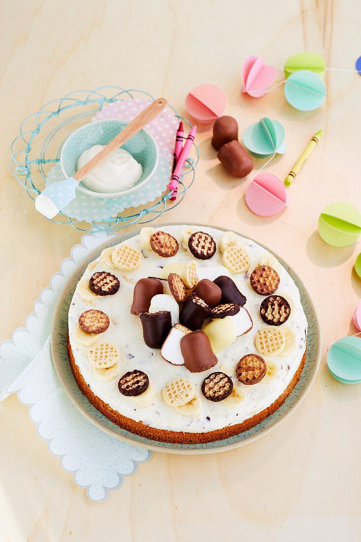 Chocolate kiss banana cake