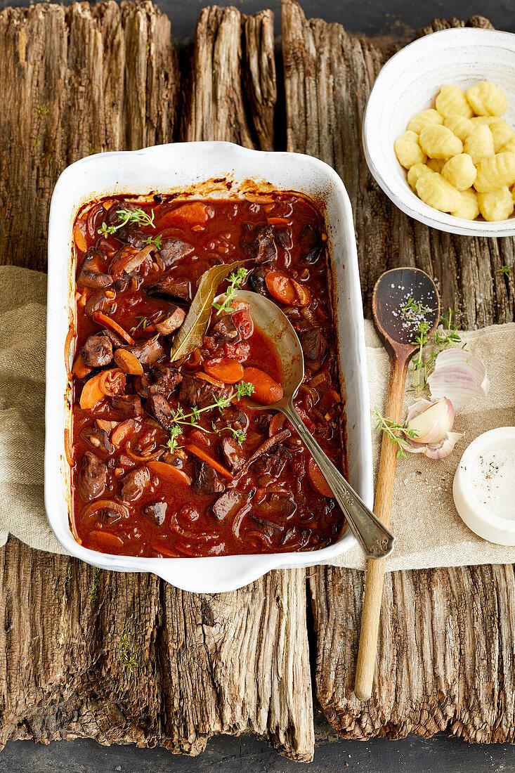 Spicy, game hearts (Alpine cuisine)