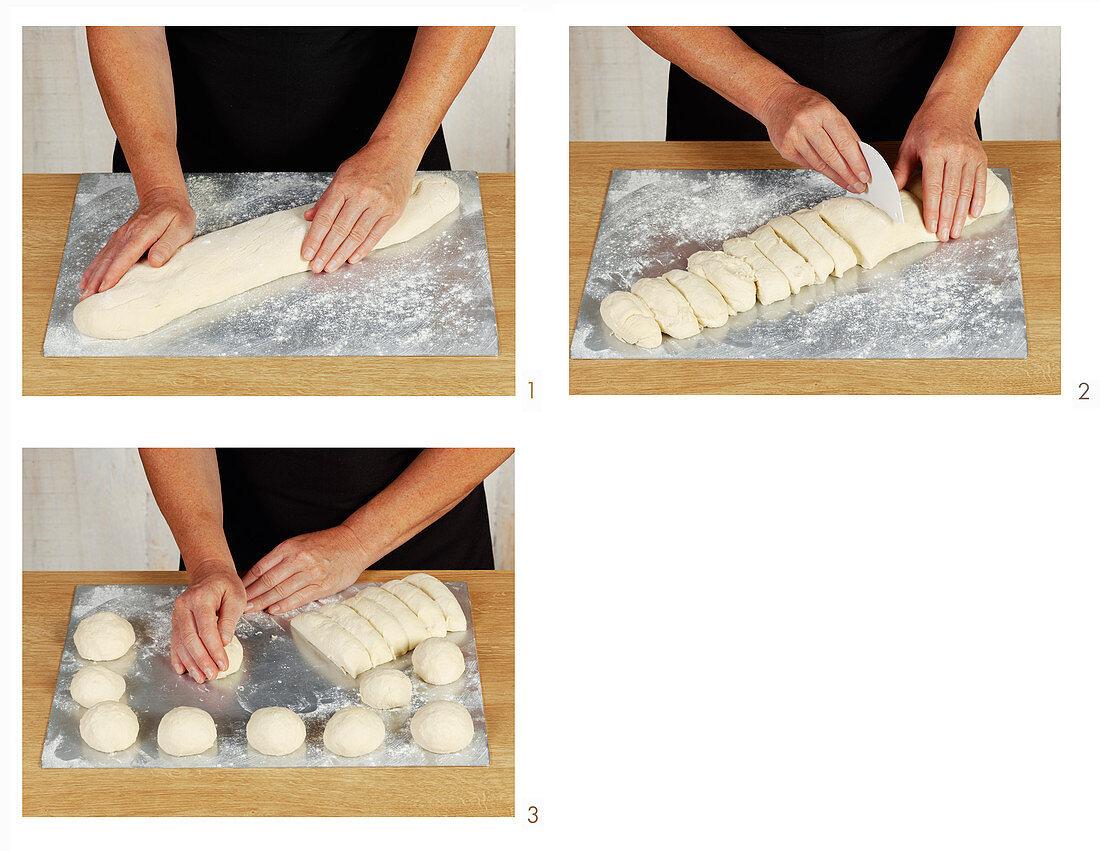 Preparing quark rolls