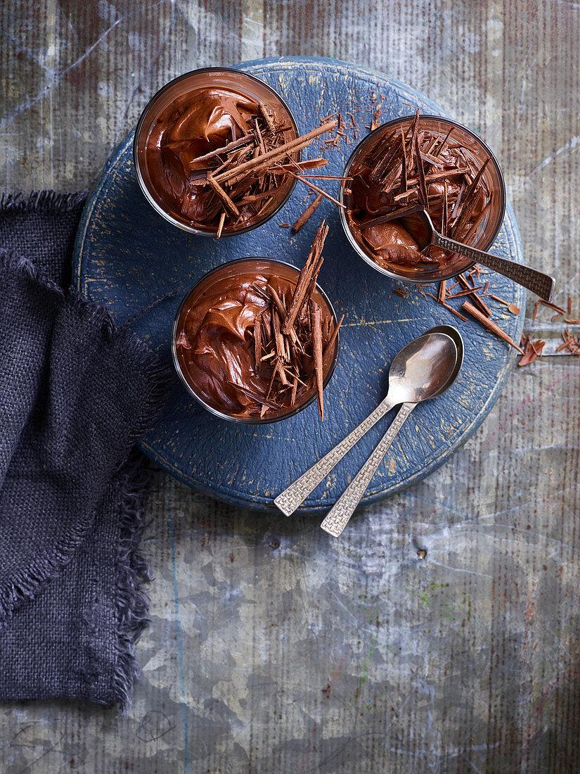 Mascarpone chocolate orange pots