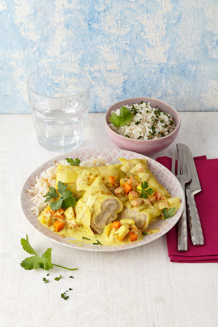 Maultaschen in curry sauce