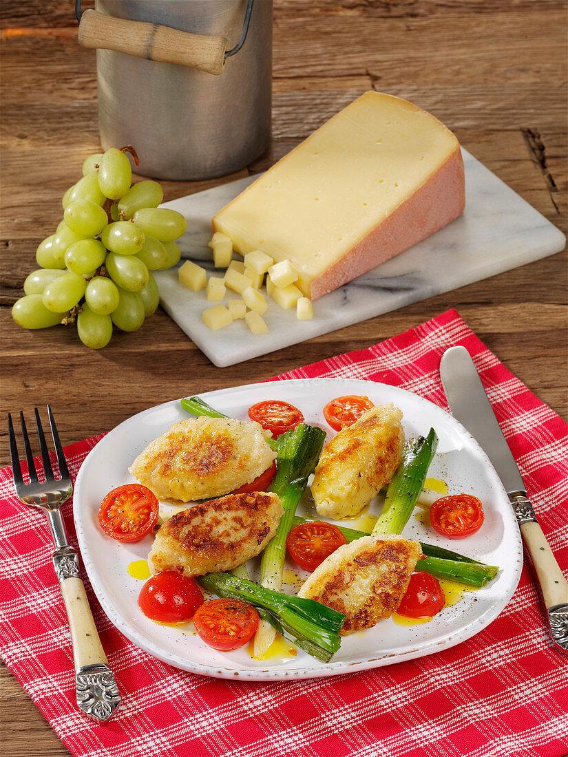 Tyrolean cheese dumplings