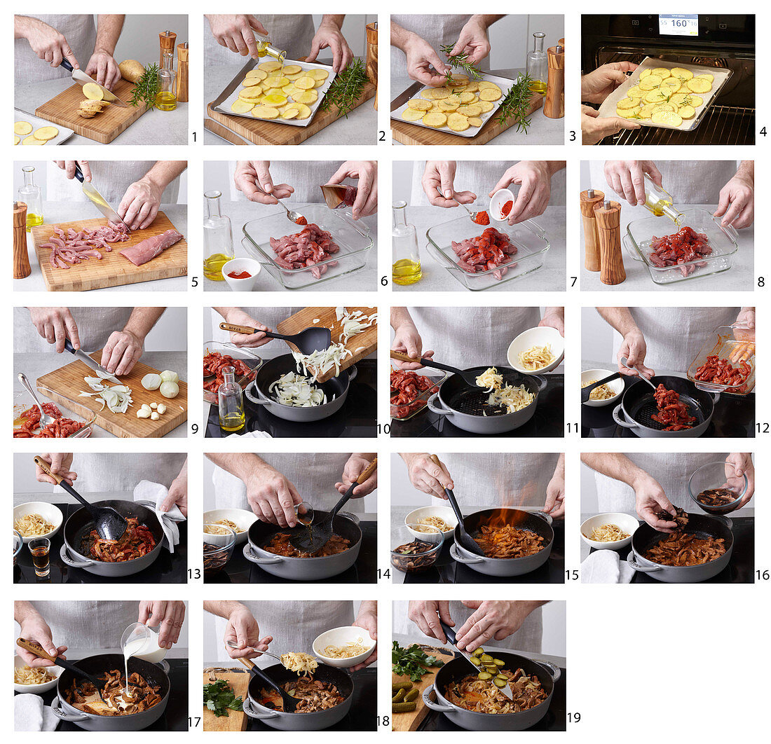 How to prepare Boar goulash Stroganoff style
