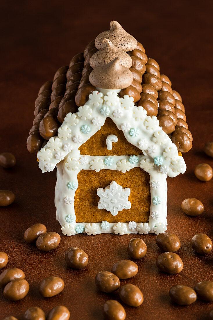 Christmas chocolate gingerbread house