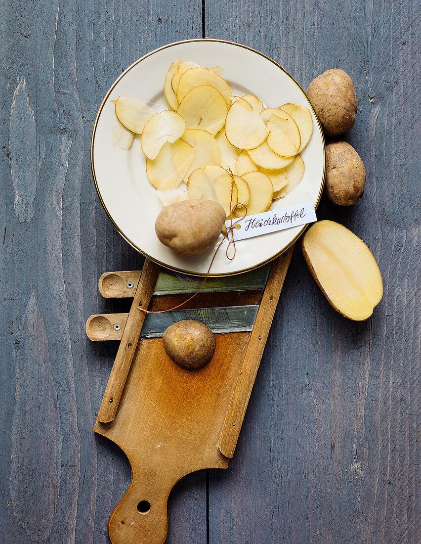 Heidekartoffeln mit Gemüsehobel
