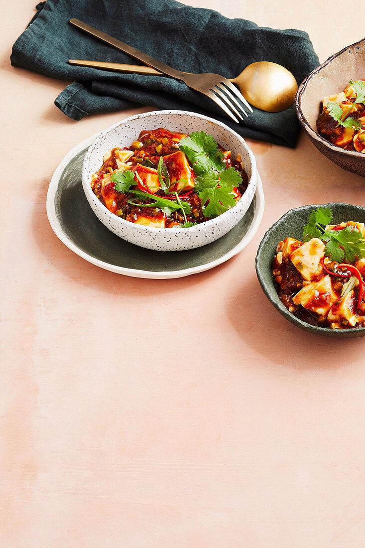 Buddhist mapo tofu