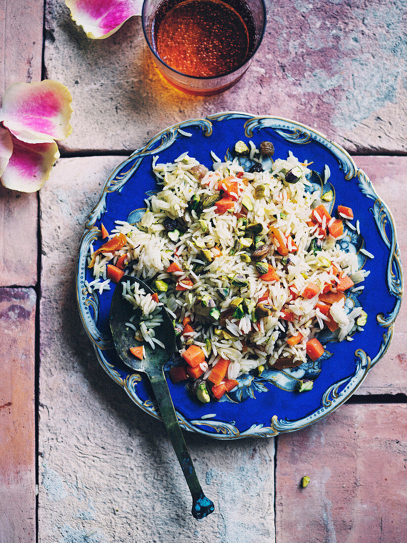 Spicing up Spring - Carrot and Saffron rice