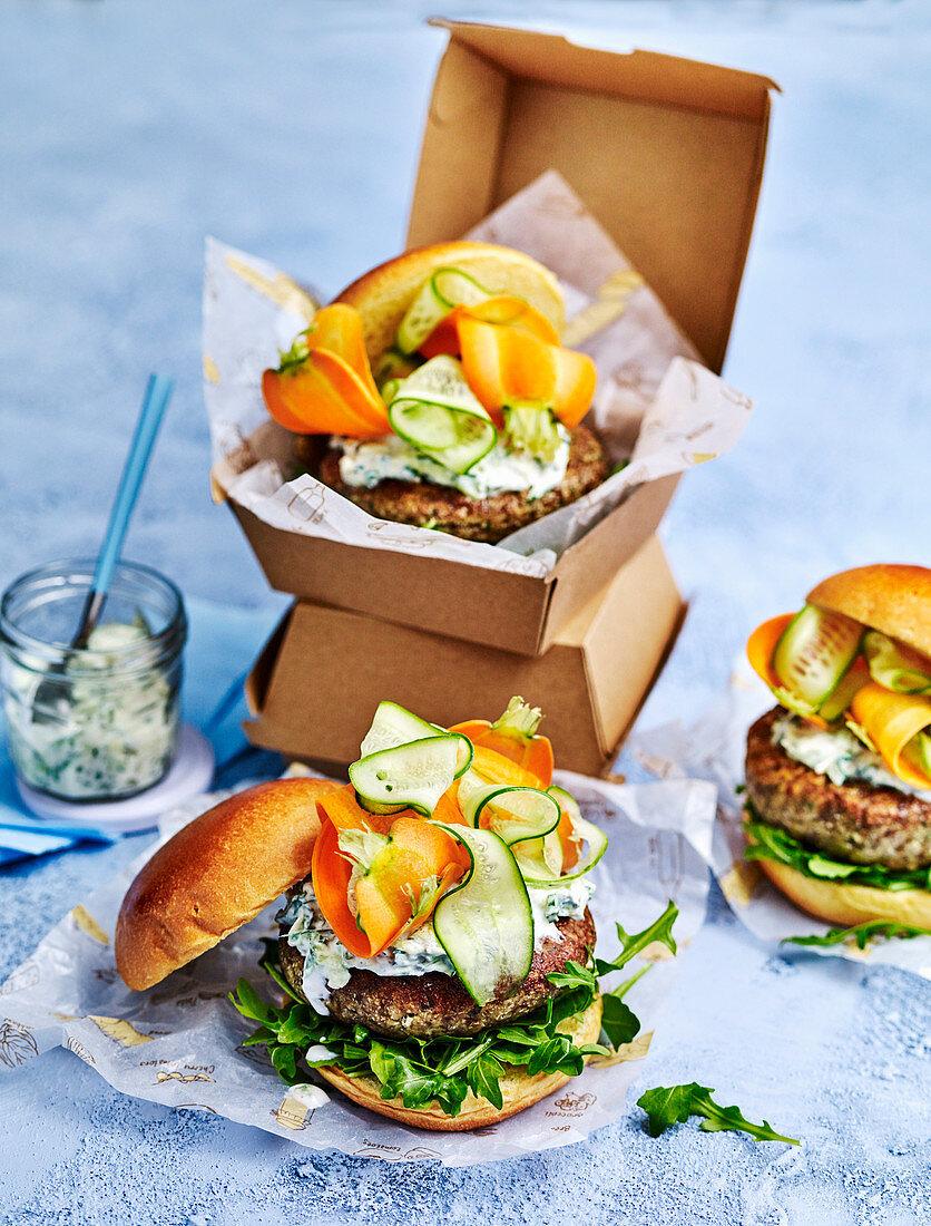 Middle Eastern Cauli-Lentil Burgers