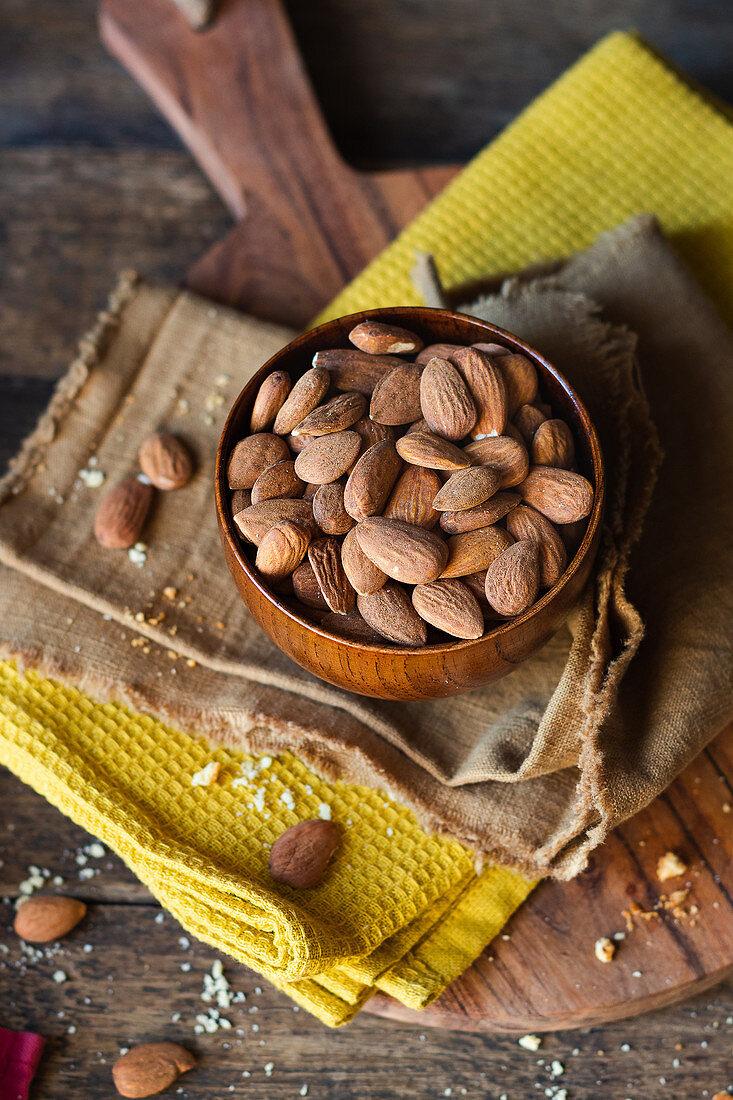 Bowl full of almond