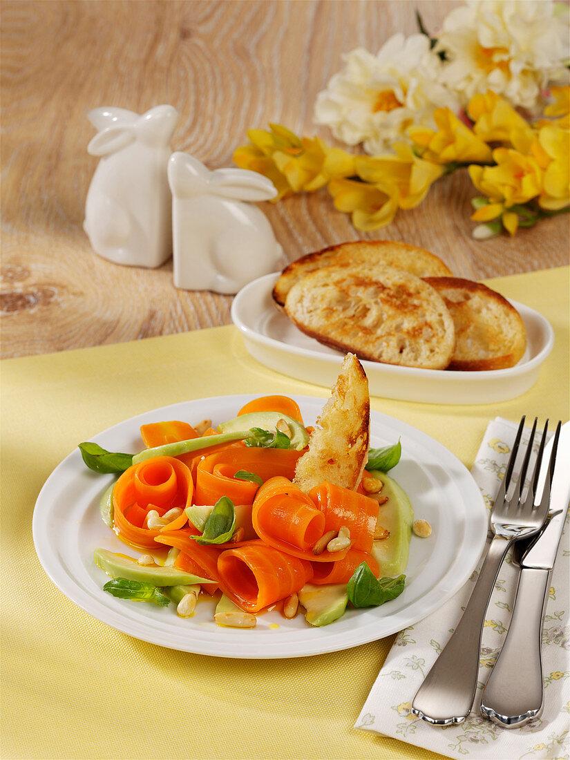 Gemüsesalat zu Ostern
