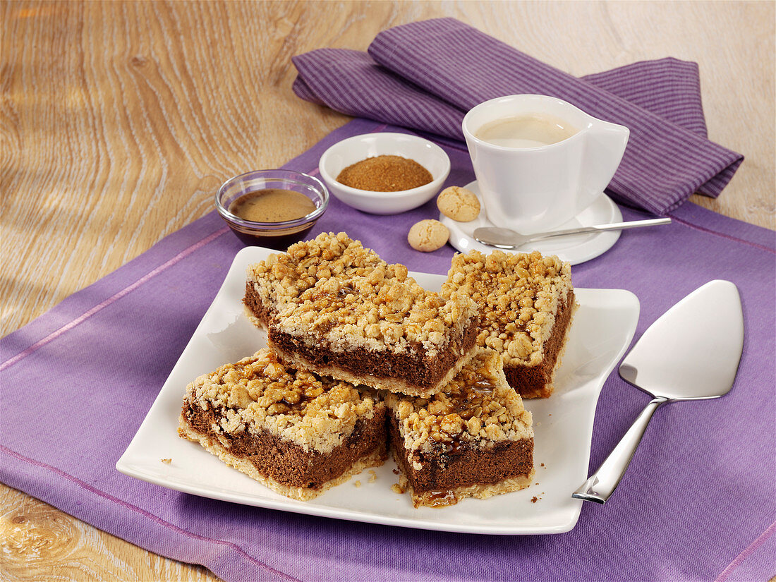 Espresso slices with oatmeal