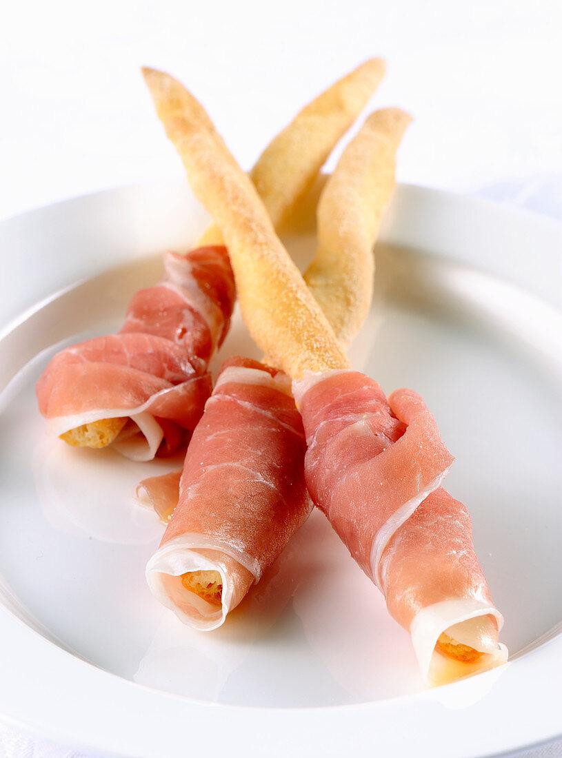 Breadsticks with San Daniele ham