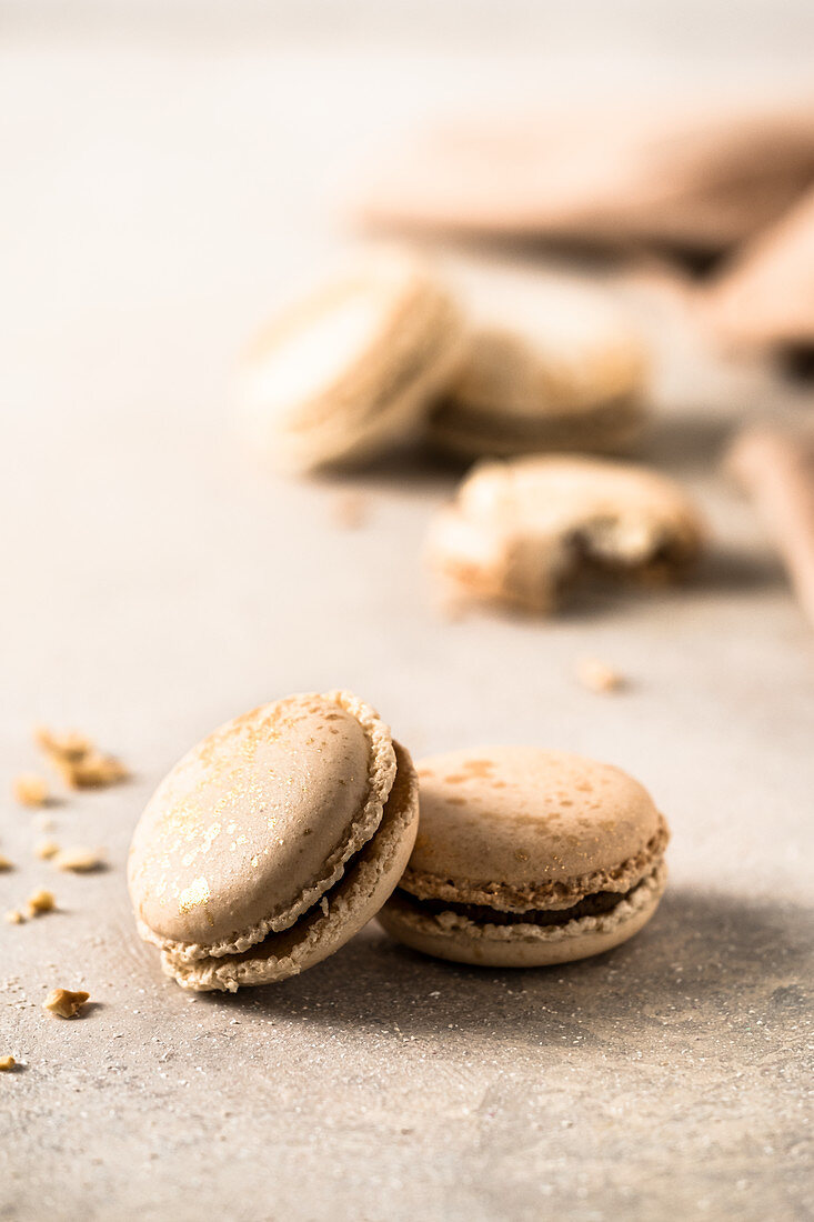 Macaroons with gold