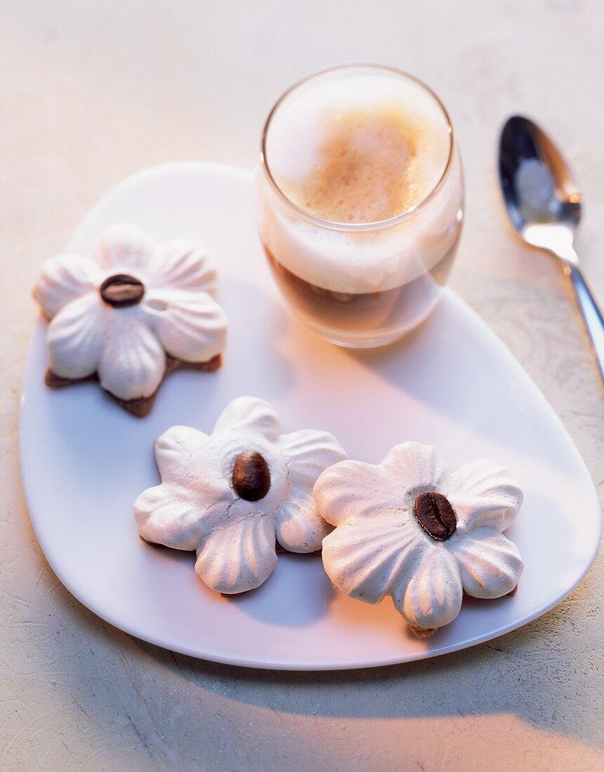 Italian latte macchiato biscuits