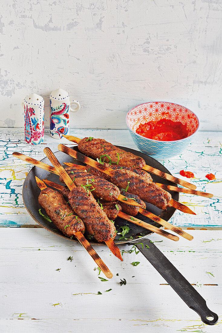 Turkish köfte kebabs (football evening)