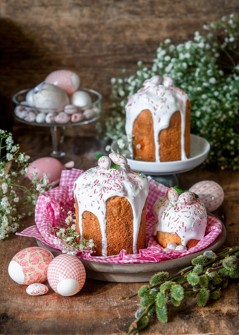Kulich cakes for Easter