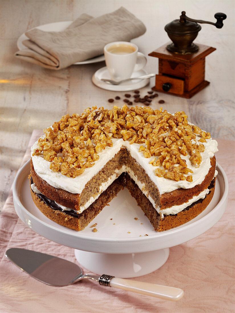 Walnuss-Espresso-Torte