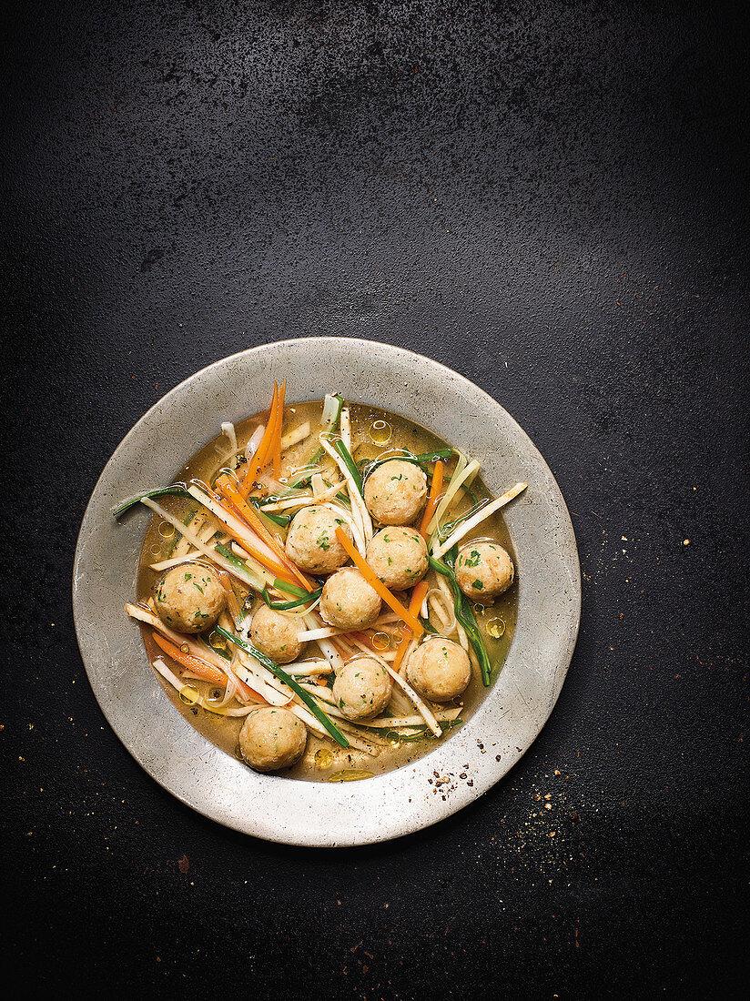 Bone marrow dumpling soup