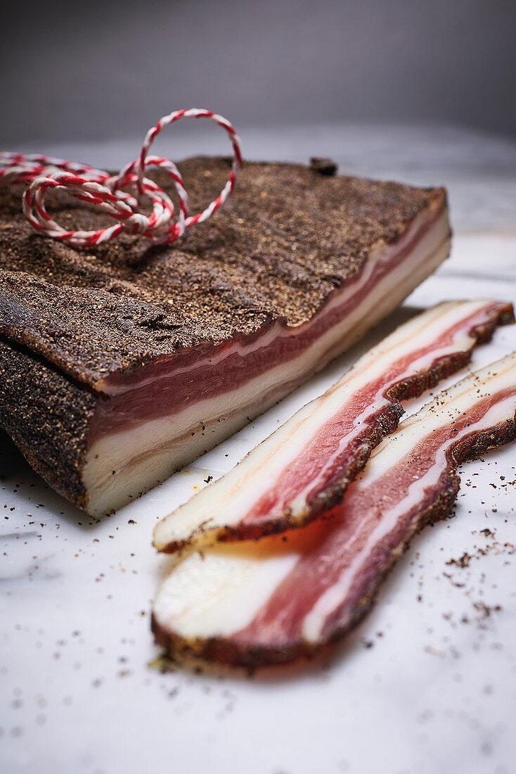 Pancetta – air-dried Italian pork belly