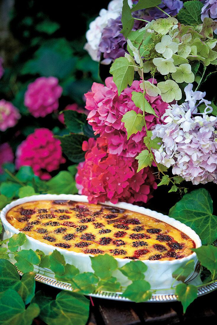 Clafoutis di more (Italian blackberry casserole)