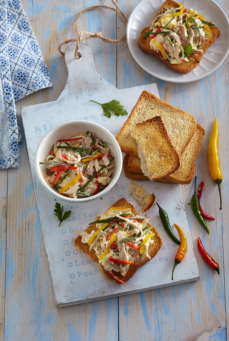 Chicken spread with celery root
