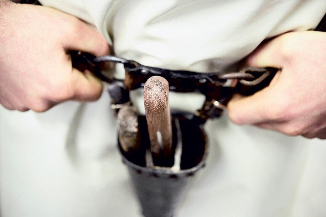 A knife belt