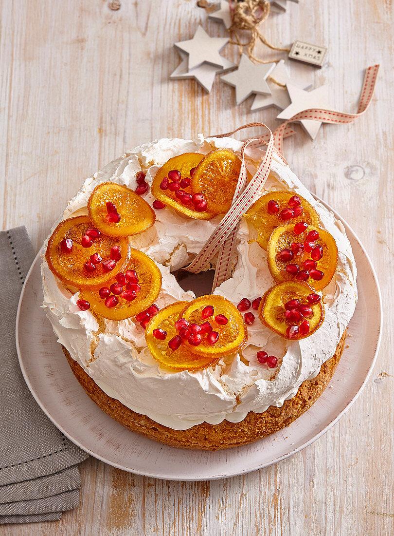 Christmas cake Pavlova