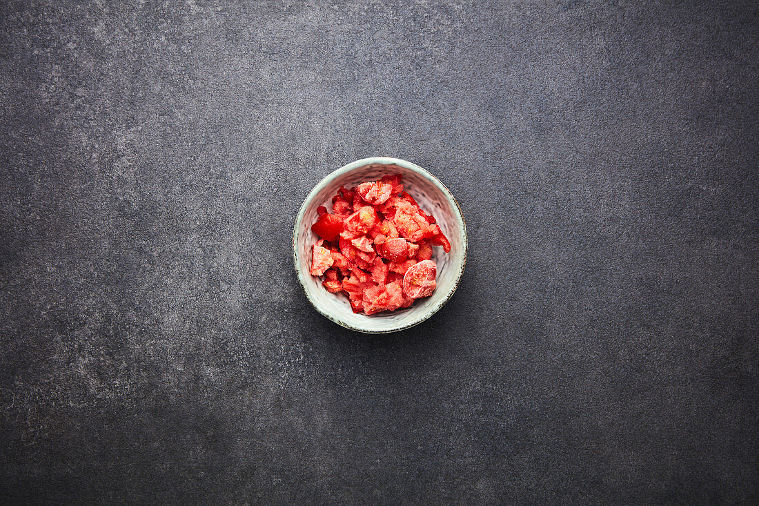 Crushed, roasted date tomatoes