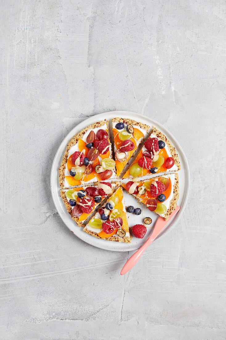 Oat base pizza with fresh fruit