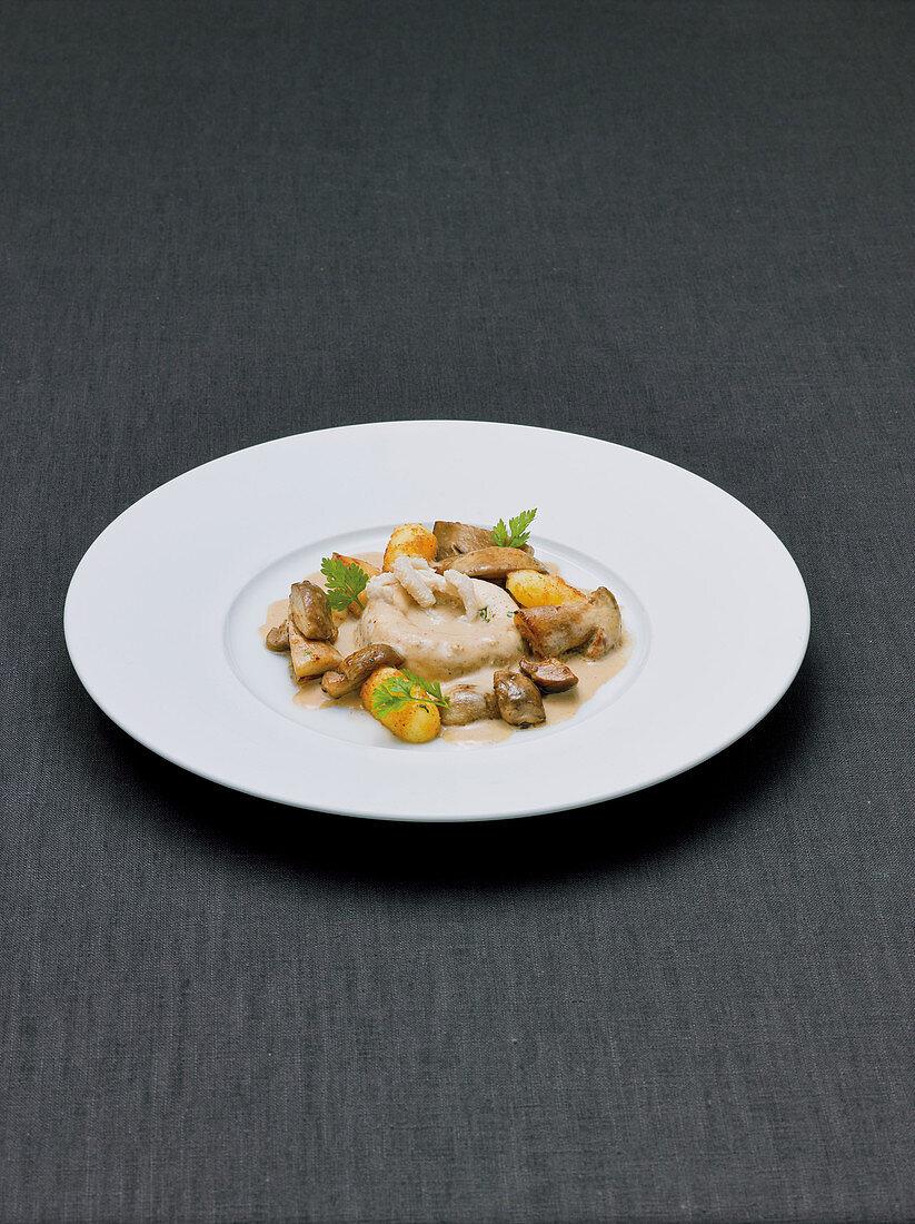 Tripe savarin with porcini mushrooms