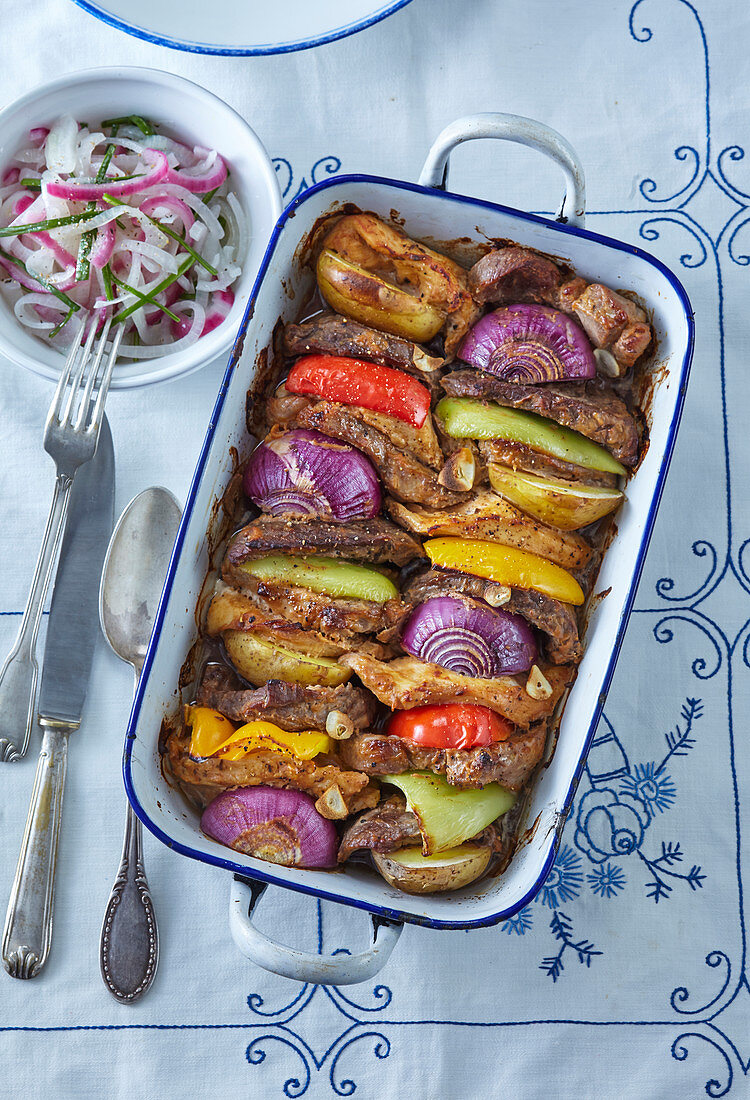 Živáň roast with onion salad