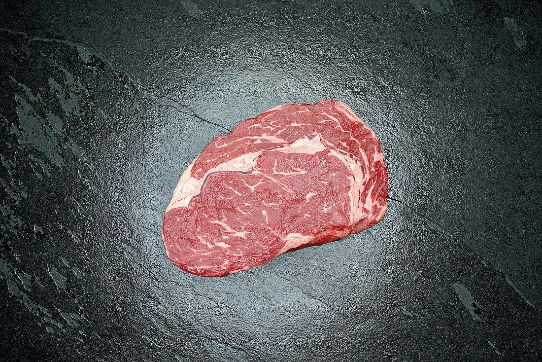 Raw prime rib-eye of US beef