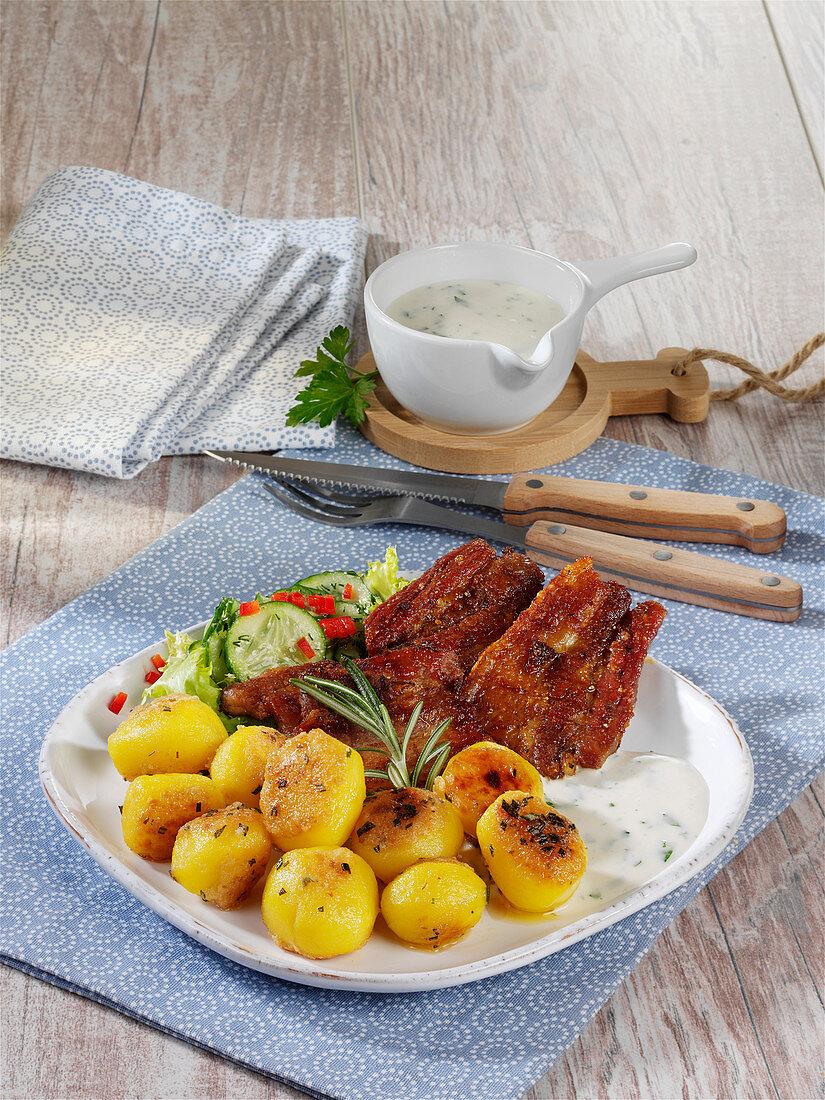 Danish potato wit grilled bacon