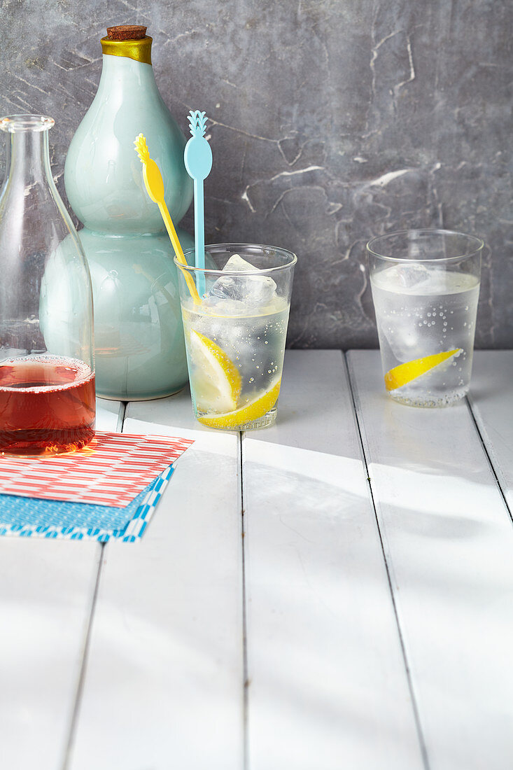 Ice-cold gin and tonic