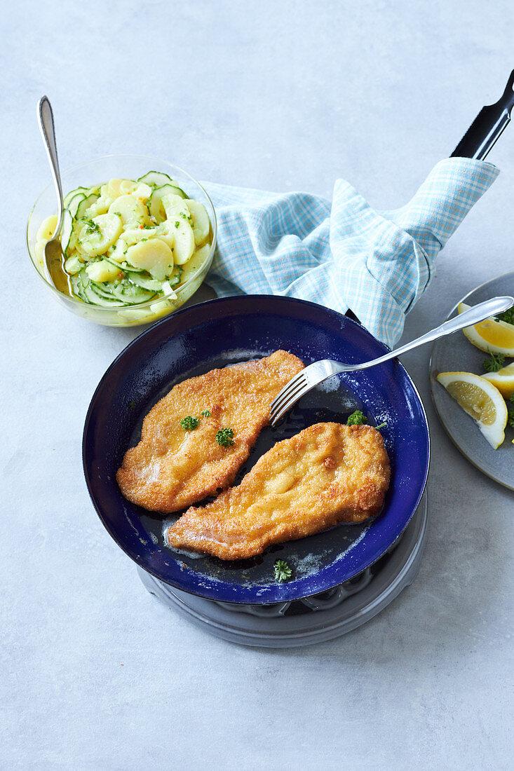 Viennese lemon escalopes