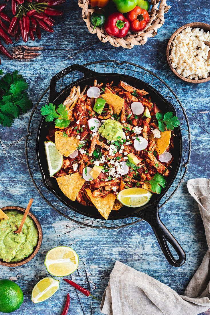 Chilaquiles – traditional Mexican breakfast