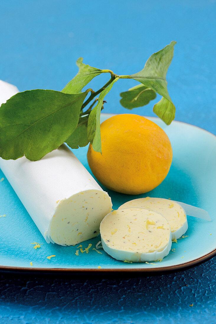 Crisp lemon butter