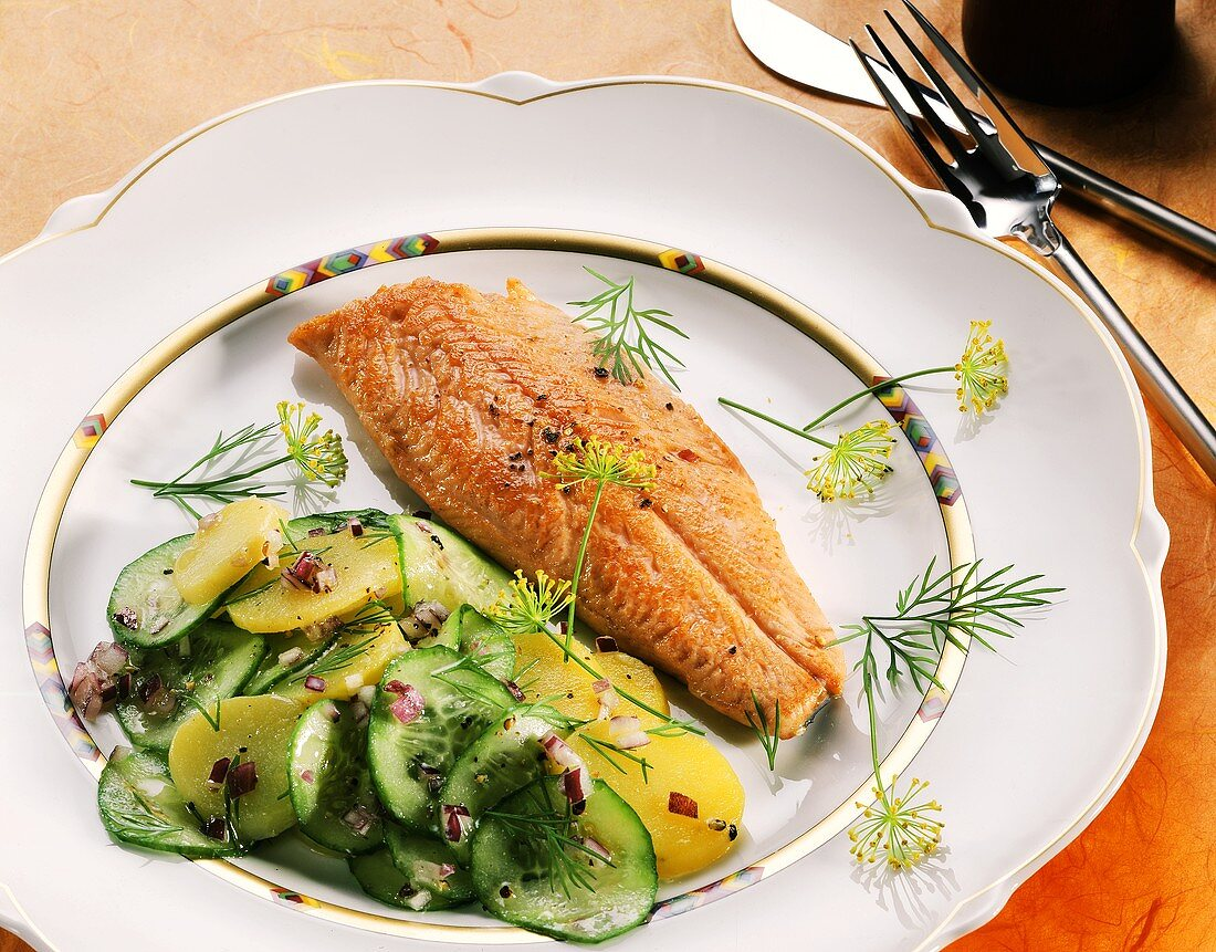 Fillet of Fish with Cooked Vegetables