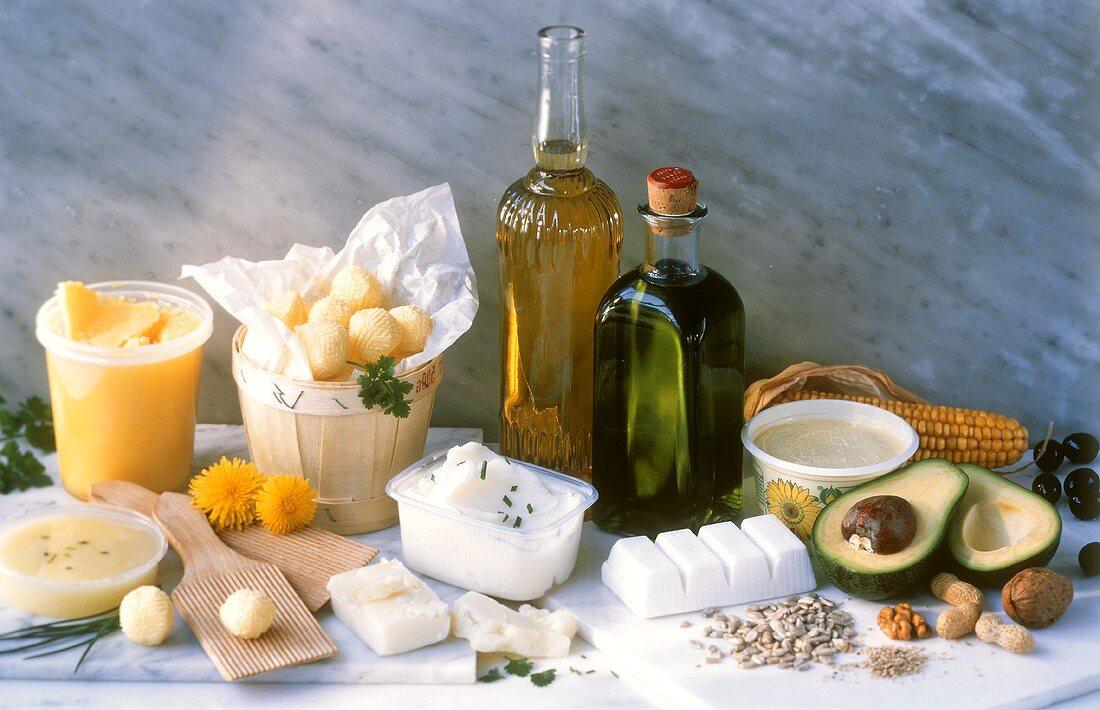 Various animal & plant fats & oils