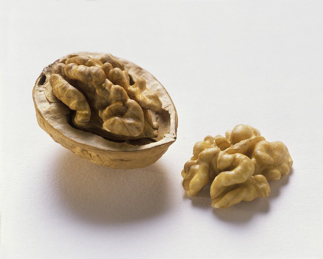 Walnut in and out of the Shell