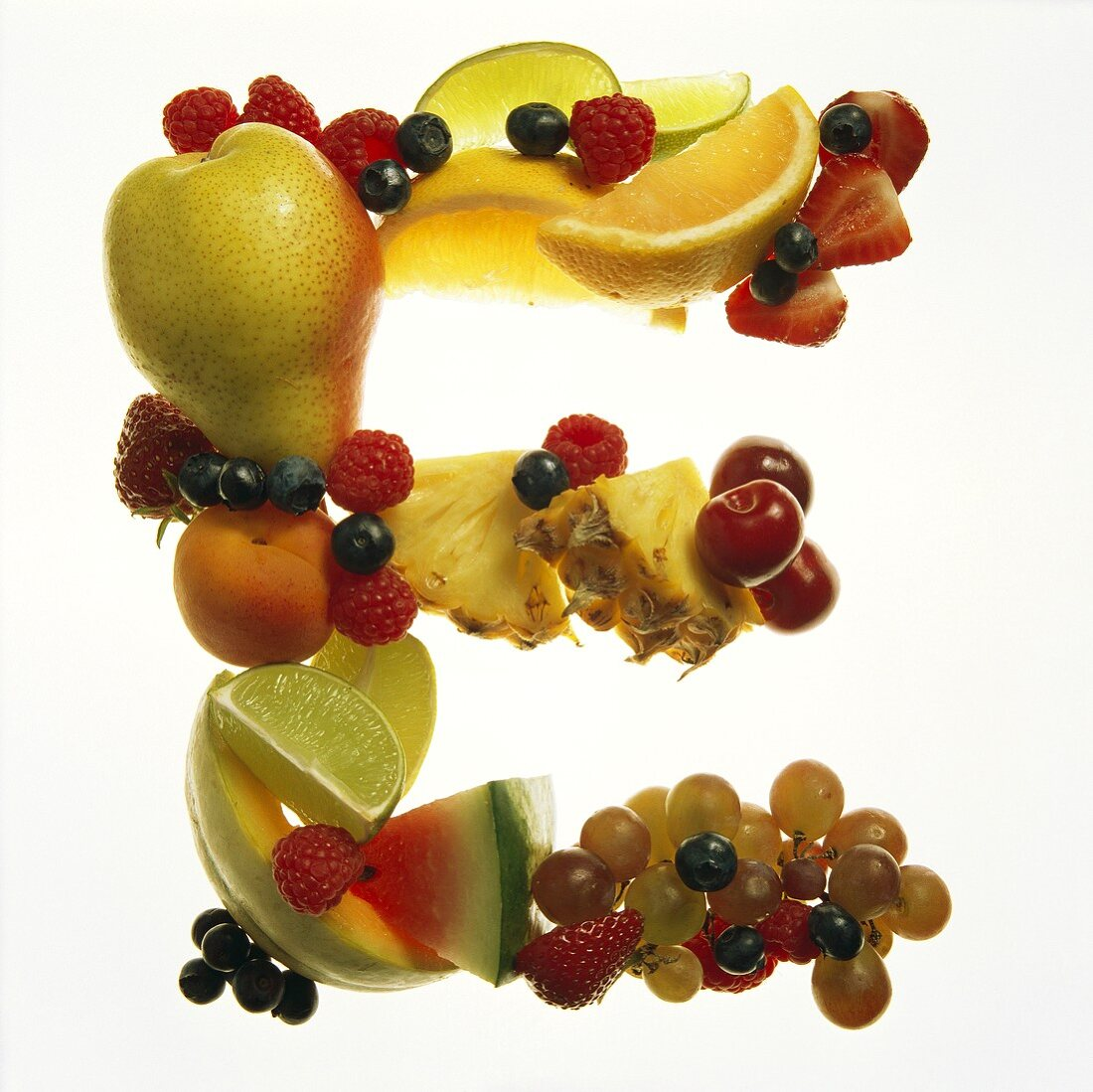 Fruit Forming the Letter E